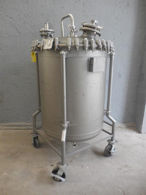 Pfaudler 100 gallon glass lined reactor