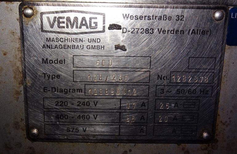 Vemag Robot 500 With PC 878 Portion Controls